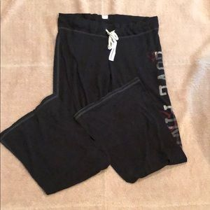 Pink Victoria's Secret Wide Leg Lounge Pants Large